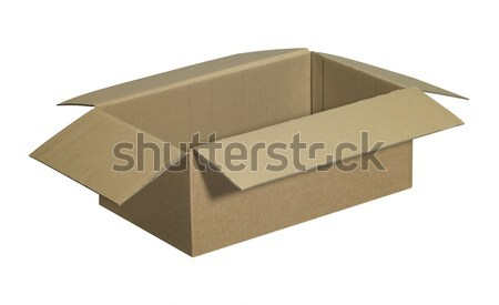 opened brown carton Stock photo © prill