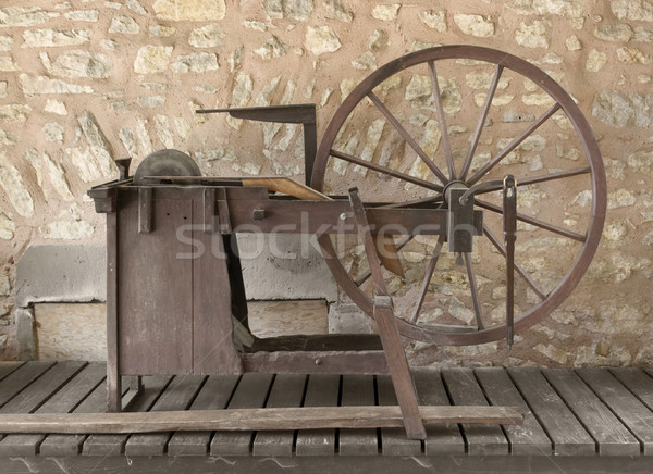 historic grinding wheel Stock photo © prill