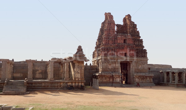 Vittala Temple at Vijayanagara Stock photo © prill