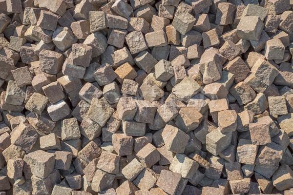 cubic cobblestones Stock photo © prill