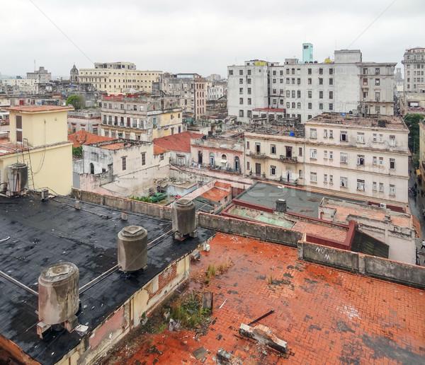 Luchtfoto Havanna stad Cuba gebouw architectuur Stockfoto © prill