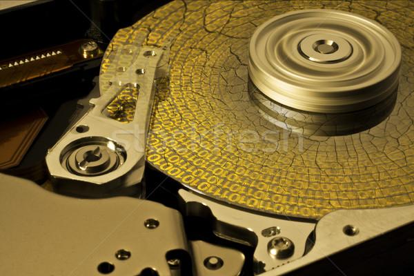 Szimbolikus adat korrózió mentés mutat kinyitott Stock fotó © prill