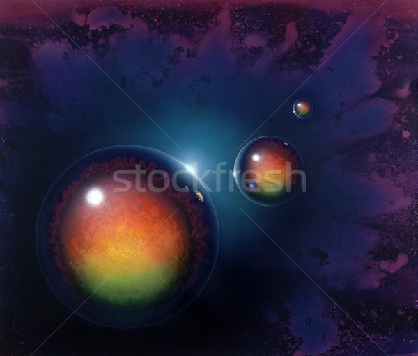 Stock photo: mirroring balls