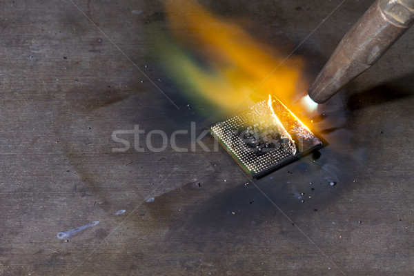 welding torch and cpu Stock photo © prill