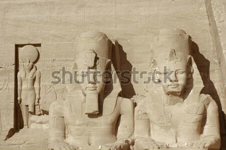 Egyiptom építészeti részlet történelmi Afrika hatalmas kő Stock fotó © prill