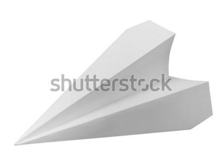 Branco papel avião estúdio fotografia isolado Foto stock © prill