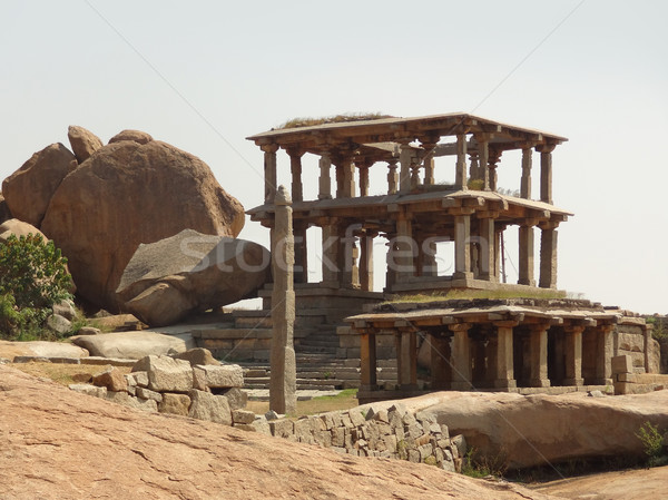 Hemakuta Hill at Vijayanagara Stock photo © prill