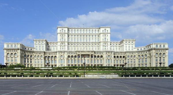 дворец парламент Бухарест город дома дороги Сток-фото © prill