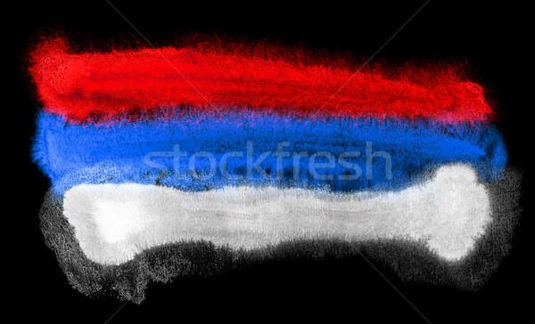 Serbia bandera ilustración acuarela fondo arte Foto stock © prill