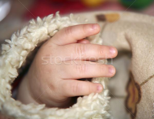 Baby strony furia rękaw dziecko ciało Zdjęcia stock © prill