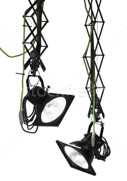 Professionnels studio photographie deux suspendu isolé Photo stock © prill