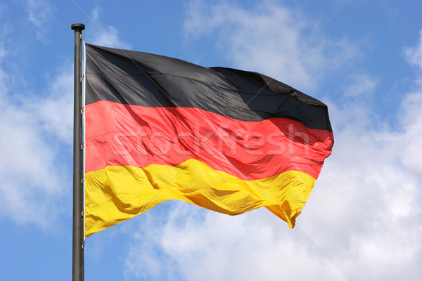 german flag and sky Stock photo © prill