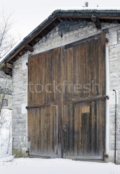 gate of a old railroad depot Stock photo © prill