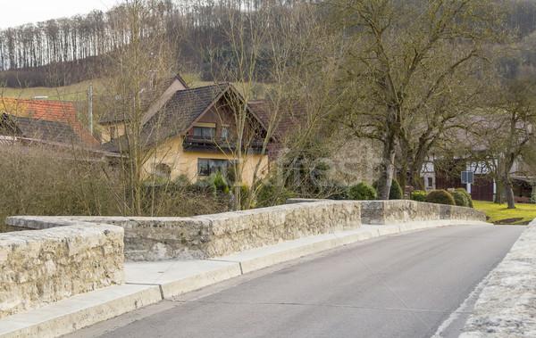 Oberregenbach in Hohenlohe Stock photo © prill