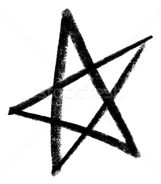 Estrela branco de volta pintar assinar pintura Foto stock © prill