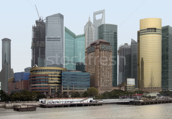 Shanghai at Huangpu River Stock photo © prill