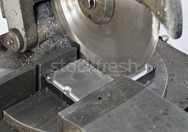 buzz saw cutting hdd Stock photo © prill
