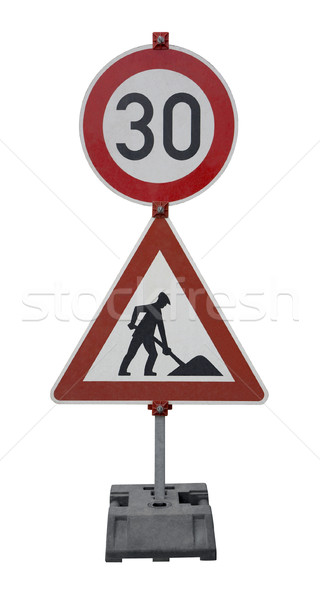 german road signs Stock photo © prill