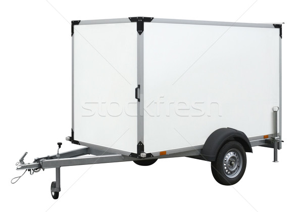 white trailer Stock photo © prill