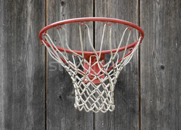 Basket basket intemperie legno facciata legno Foto d'archivio © prill