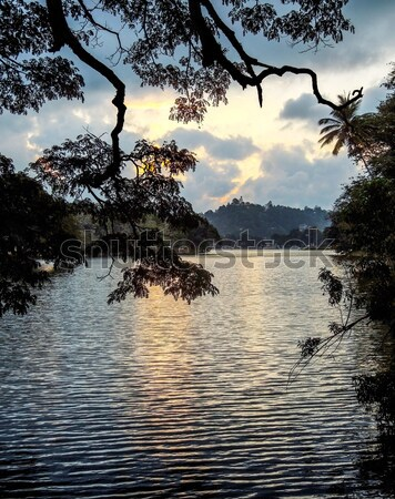 waterside scenery in Sri Lanka Stock photo © prill
