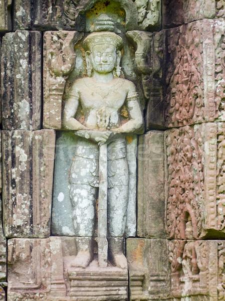 Angkor detay tapınak heykel tarih din Stok fotoğraf © prill