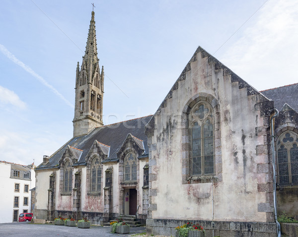 church at Pont-Aven in Brittany Stock photo © prill