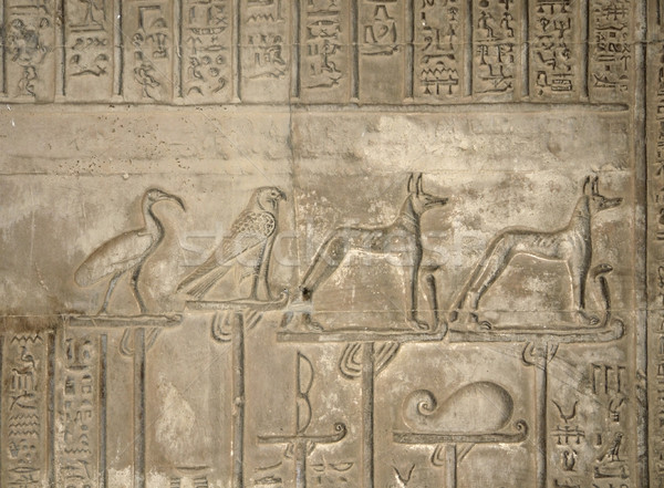 relief at the Temple of Kom Ombo Stock photo © prill