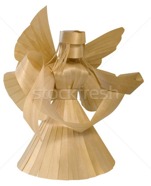 wooden angel sculpture Stock photo © prill