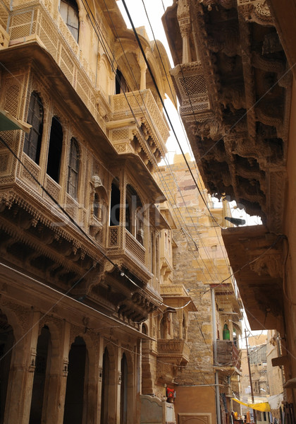 Kasaba Hindistan ev Bina duvar Stok fotoğraf © prill