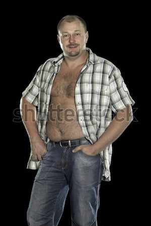 man with potbelly Stock photo © prill