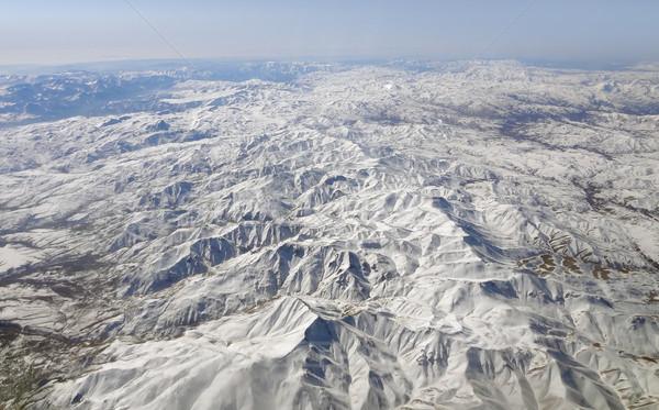 Irán légifelvétel hó hegy levegő hideg Stock fotó © prill