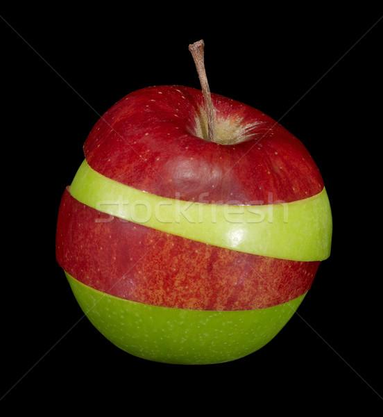 Manzana frutas rojo verde rebanadas Foto stock © prill