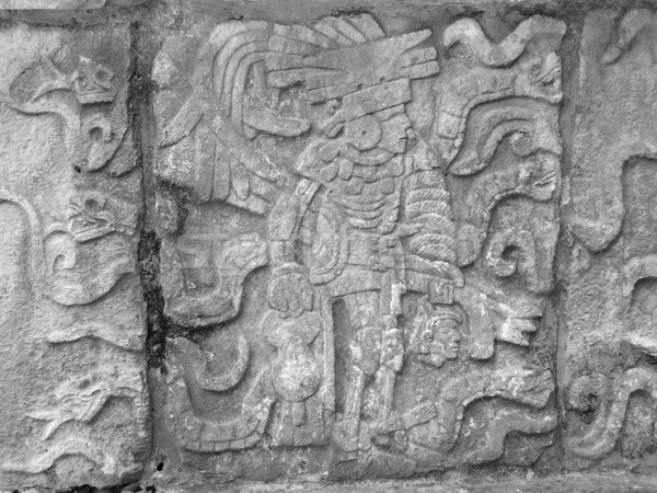 stone relief detail in Chichen Itza Stock photo © prill