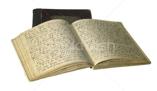 yellowed handwritten books Stock photo © prill