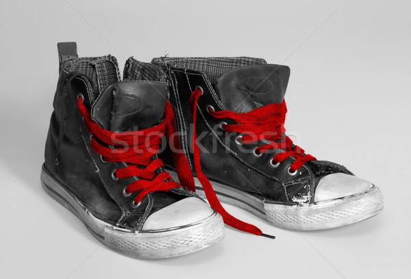 rundown sneakers Stock photo © prill