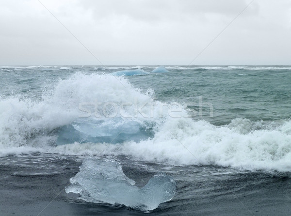 coastal iceberg scenery Stock photo © prill