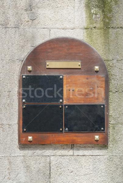 wooden doorplate Stock photo © prill