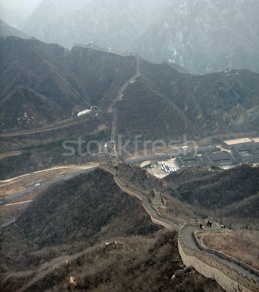 Nagy Fal Kína ködös építkezés fal híd Stock fotó © prill