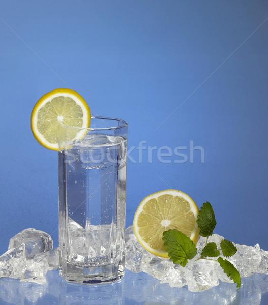 Cool napój bezalkoholowy studio fotografii szkła przezroczysty Zdjęcia stock © prill