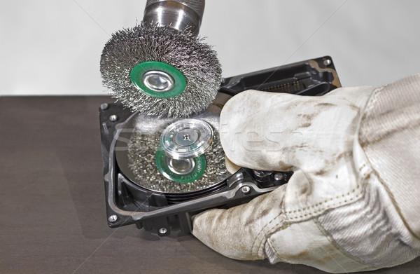 scrubbing a hard disk Stock photo © prill