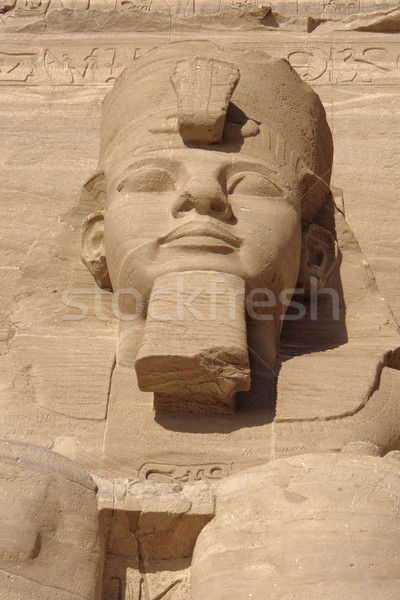 Ramesses sculpture at Abu Simbel temples Stock photo © prill