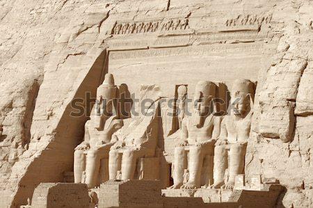 Részlet napos megvilágított építészeti részlet történelmi Egyiptom Stock fotó © prill