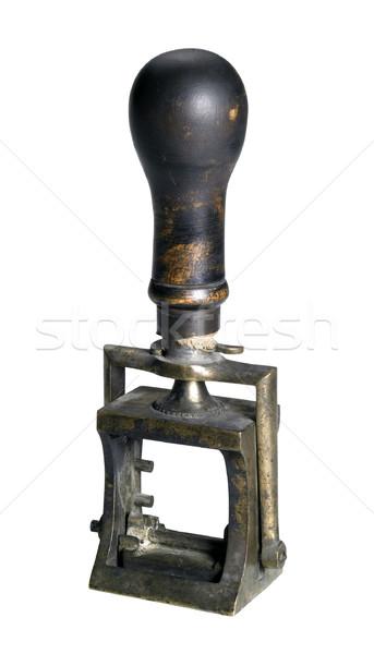 Nosztalgikus kotlett stúdiófelvétel öreg izolált vágási körvonal Stock fotó © prill