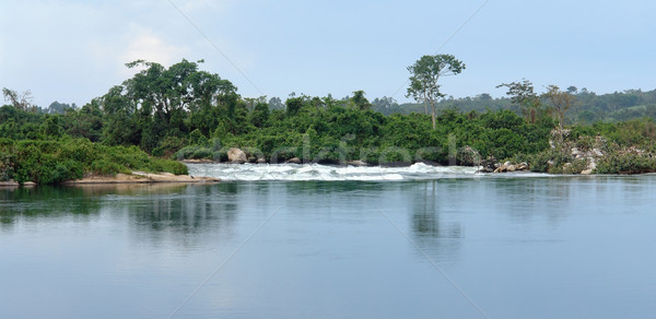 waterside River Nile scenery near Jinja in Uganda Stock photo © prill
