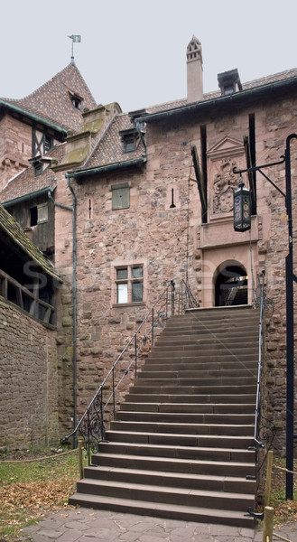 stairway at the Haut-Koenigsbourg Castle Stock photo © prill