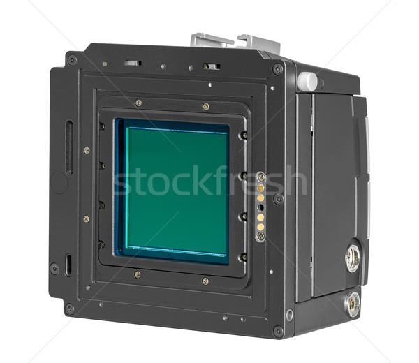 Digitale camera Maakt een reservekopie geïsoleerd witte technologie digitale Stockfoto © prill