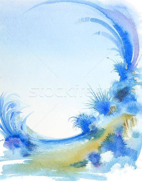 Fantastico acquerello pittura panorama dettaglio Foto d'archivio © prill