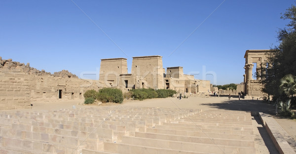 sunny illuminated Temple of Philae in Egypt Stock photo © prill