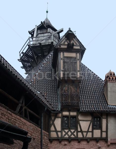 Haut-Koenigsbourg Castle detail Stock photo © prill